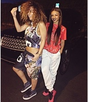 shirt,india westbrooks,sisters,new york city,shorts,pants,shoes,fly pants,on point