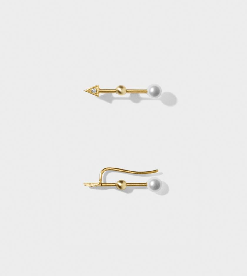 Line & Jo - Earring - Line and Jo - EAST GOLD pearl dia.