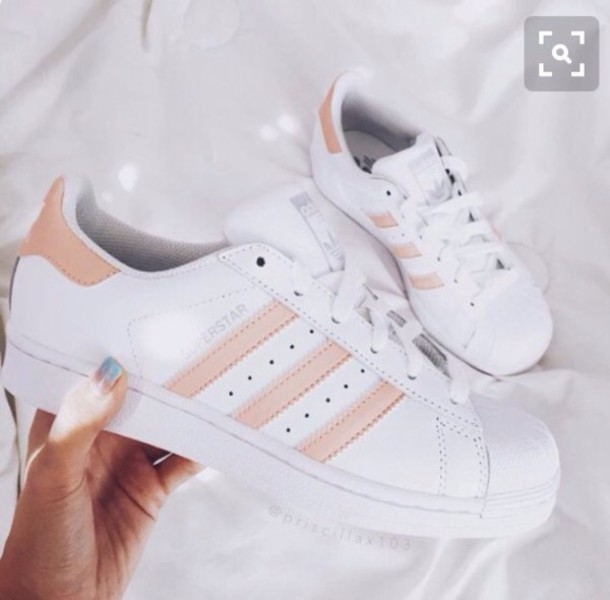fcab60c9ff17 shoes adidas superstars white and light pink