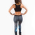 Women's Stunning Workout 3D Printed Supplex Top Leggings Set