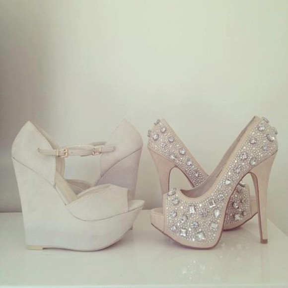 shoes beige shoes diamonds