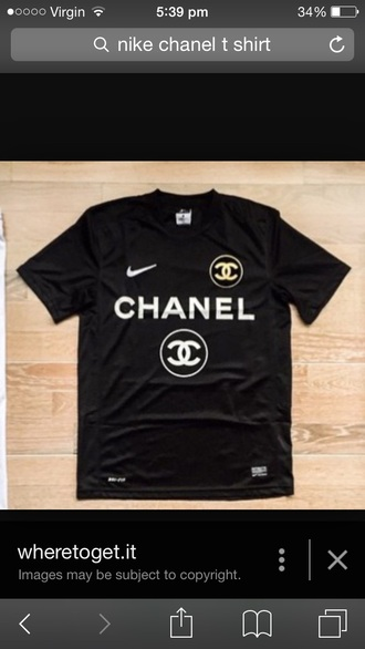 shirt chanel t-shirt nike top black t-shirt