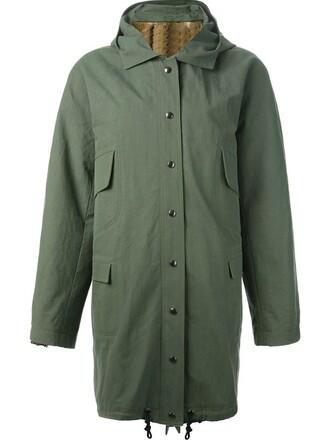 parka women cotton green coat