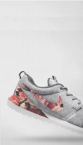 shoes,nike shoes,flowerpower,grey nike