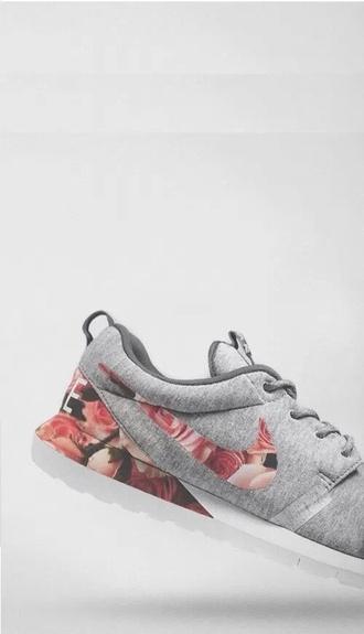 shoes nike shoes flowerpower grey nike