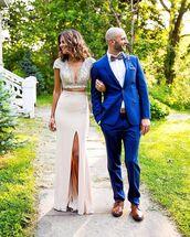 top,wedding,v neck,skirt,look,sequins,prom dress,beaded dress,white prom dress