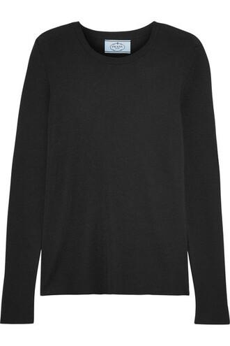 sweater black silk