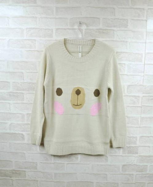 sweater rilakkuma bear cute sweaters kawaii