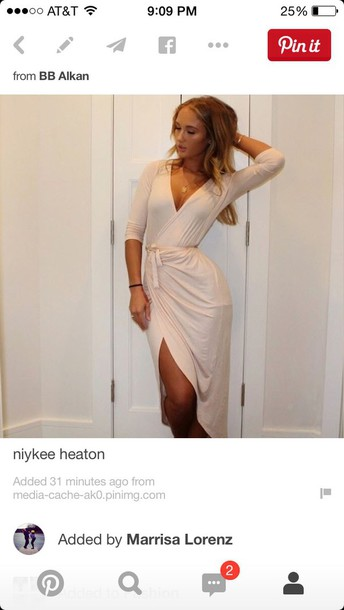dress niykee heaton nude dress