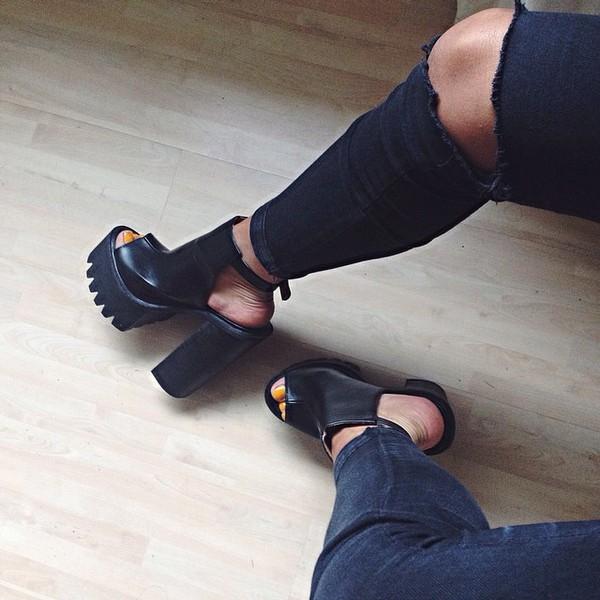 shoes high heels sandals straps