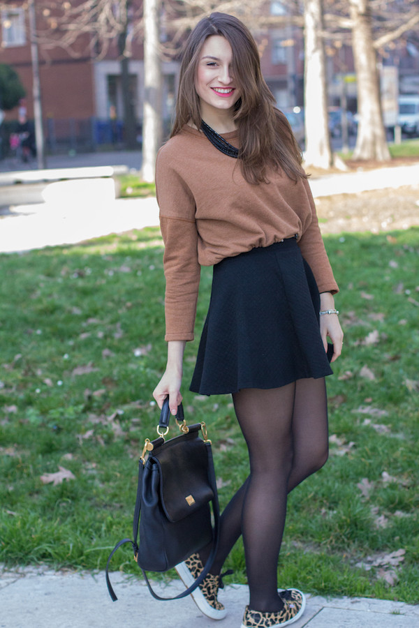 style and trouble sweater shoes bag skirt