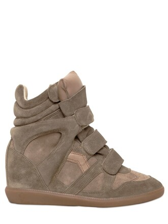 sneakers suede wedge sneakers taupe shoes