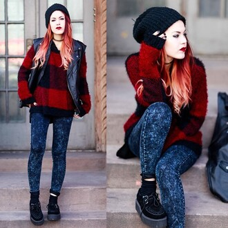 jeans luanna perez le happy sweater vest creepers