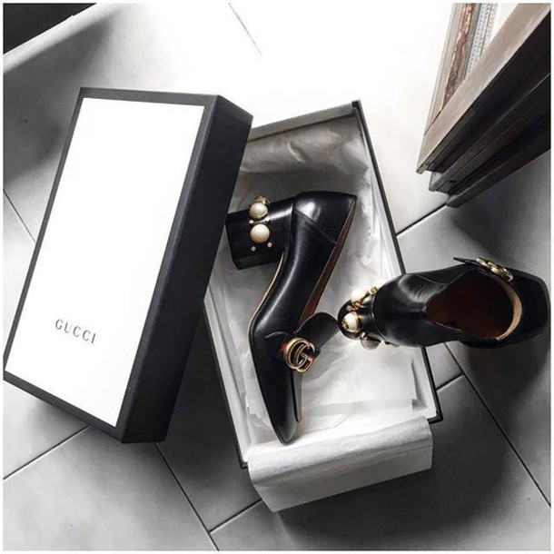 1edb89aef5a shoes tumblr high heel pumps thick heel block heels gucci gucci shoes high heel  loafers designer