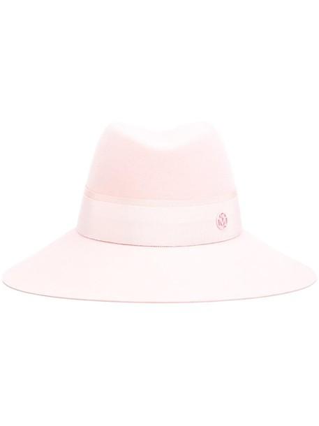 hat fedora purple pink