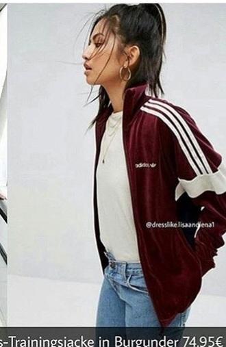 jacket burgundy adidas original