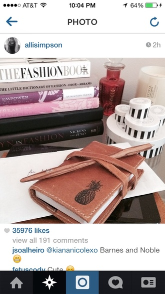 bag alli simpson notebook pineapple print book