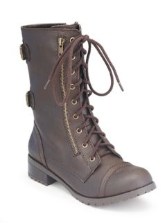 Buckle Combat Boot: Dots.com
