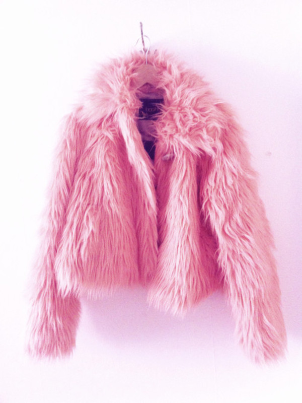 Jacket: pink, pink fluffy hoodie, fluffy, coat - Wheretoget