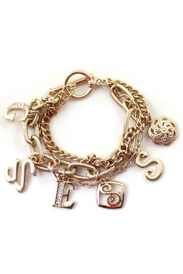 Letters Chain Goldern Bracelet with Unique Design [FWBJ00193] - PersunMall.com