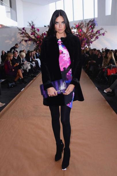 dress coat adriana lima fashion fashion week 2015