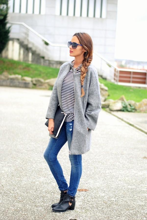 stella wants to die coat t-shirt jeans shoes jewels sunglasses