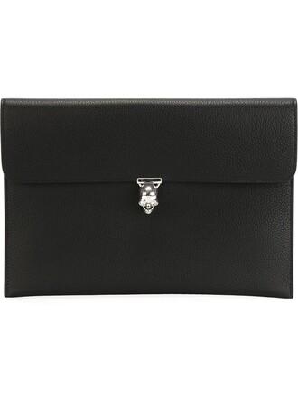 skull women clutch black bag