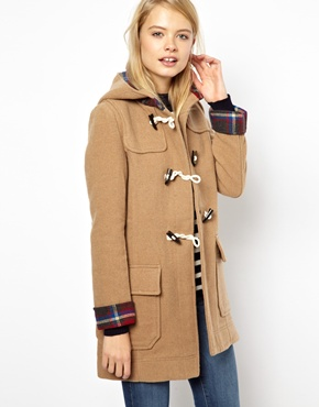 ASOS | ASOS Bonded Check Duffle Coat at ASOS
