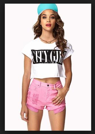 shirt city girl shirt pink shorts black girls killin it
