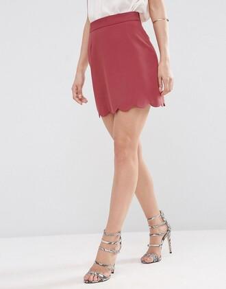 skirt mini skirt clothes asos a line skirt