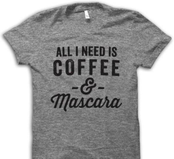 t-shirt grey print t-shirt coffee