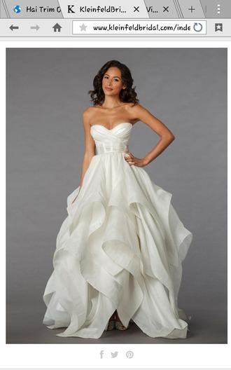dress cream wedding dress lace bustier