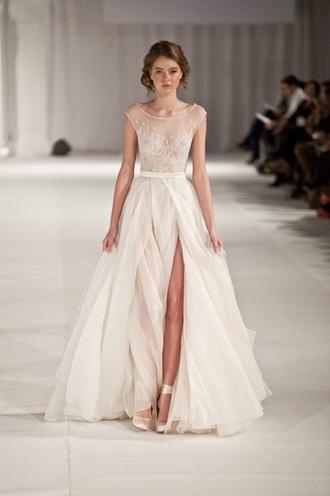 shoes elie saab white heels ribbon wedding dress