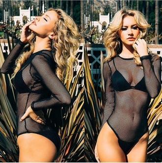 mesh bodysuit sexy