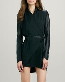 Sleeve wrap dress/coat