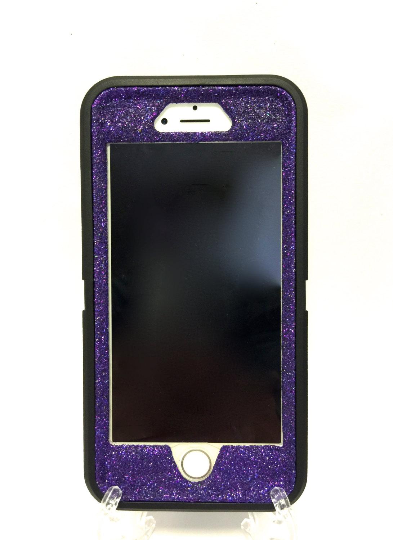 hot sale online ea74a e89b0 iPhone 6 Plus OtterBox Defender Series Case Glitter Cute Sparkly Bling Case  black / purple.