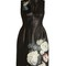 Hand-painted flowers leather dress