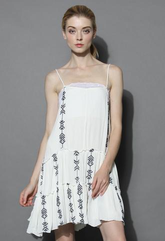 dress boho my fav open-back dress in white chicwish boho dress summer dress open-back dress white dress chicwish.com white summer dress