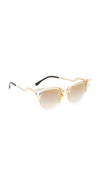 sunglasses gold yellow grey