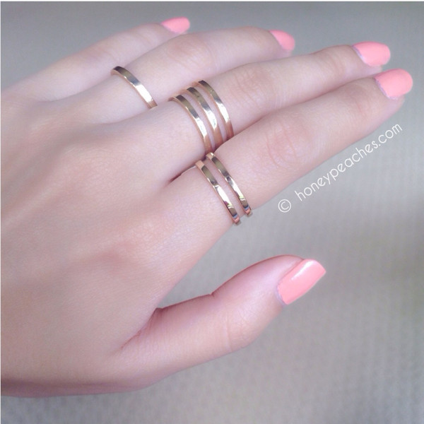 Trio of Rings | Honey Peaches