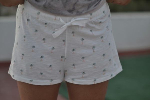 shorts palm tree print sleepwear nightwear