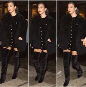 shoes,kourtney kardashian,kourtney kardashian style,knee high boots,suede boots,suede shoes,sude,kardashians,black