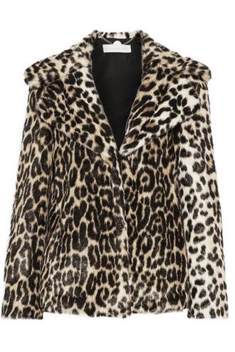coat faux fur coat fur coat fur faux fur print leopard print