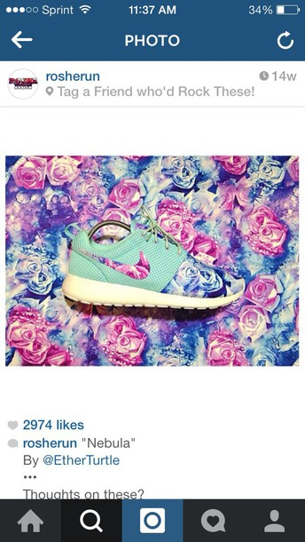 shoes rose roshe run nike