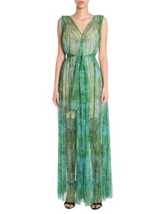 dress long dress long print