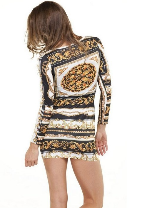 Outletpad | Gold Chains Bodycon Dress | Online Store Powered by Storenvy