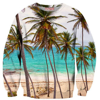 miley cyrus sweater tropical colorful riahana clothes