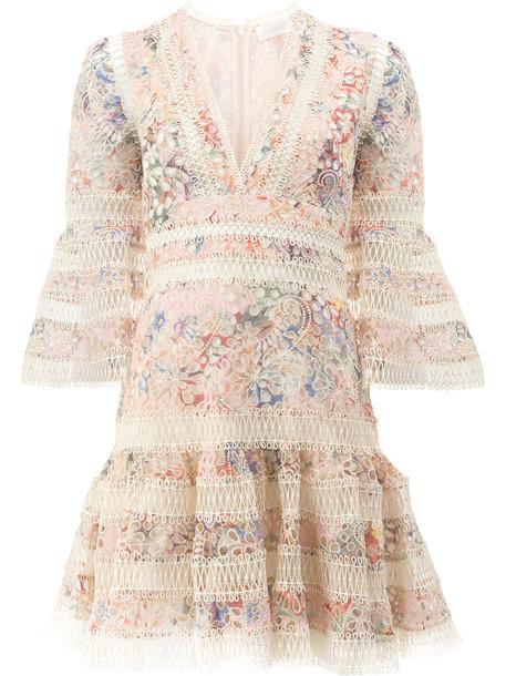 Zimmermann dress mini dress mini women floral cotton