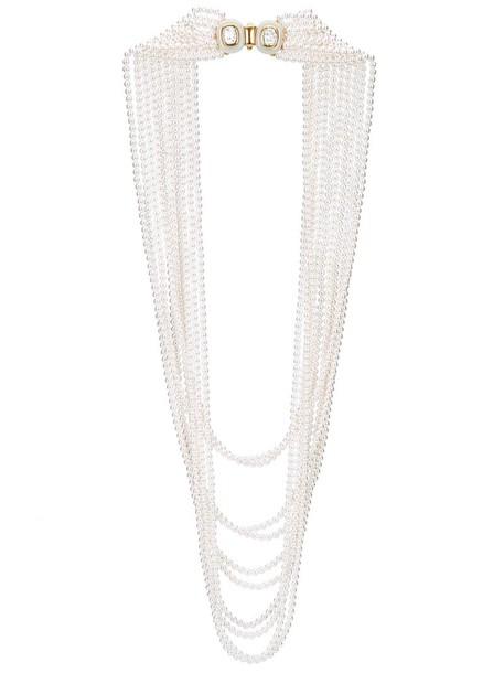 oscar de la renta women pearl necklace white jewels