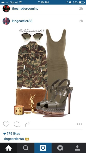 shoes olive green open toes high heels